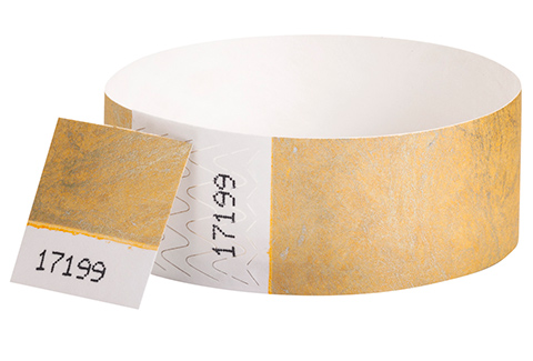 Tyvek&reg Stub - Metallic Gold