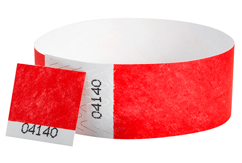 Tyvek&reg Stub - Neon Red