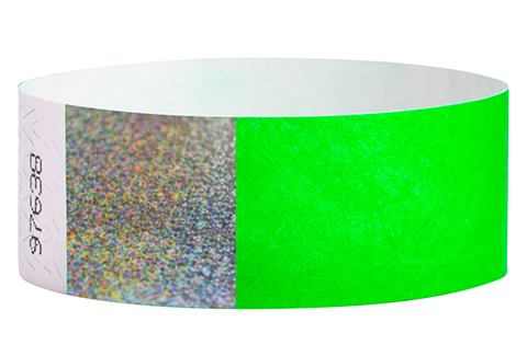 Tyvek&reg Hologram - Neon Green