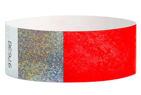 Tyvek&reg Hologram - Neon Red