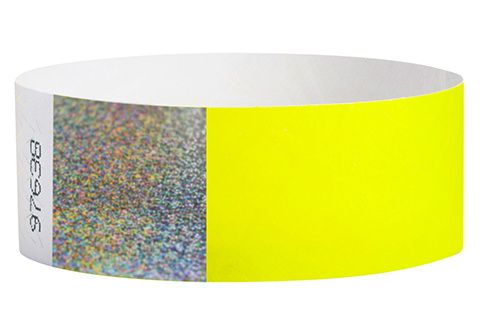 Tyvek&reg Hologram - Neon Yellow